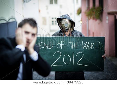 Business Man Is Scared Of The End Of The World
