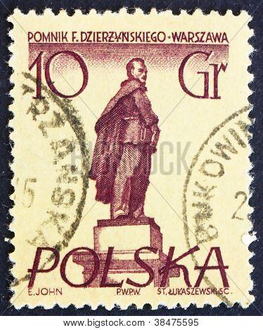 Postage stamp Poland 1955 Feliks E. Dzerzhinski, Polish Revolutio