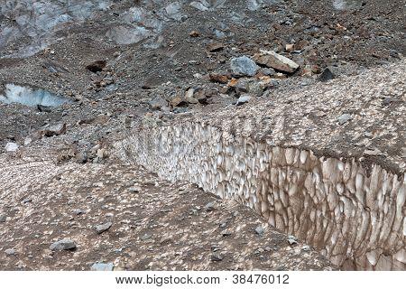 Crevasses In Glacier