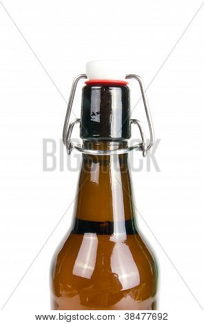 dark Beer Bottle on white background