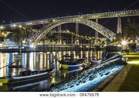 Ponte de Dom Luis, Porto Night Cityscape