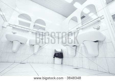 White Public Toilet