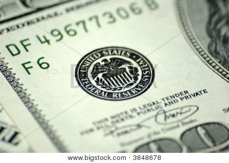 One Hundred Dollar Banknote Frs Close-Up