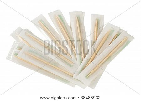 Wooden toothpicks bilateral