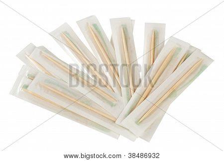 Wooden toothpicks bilateral