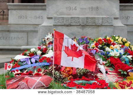 The wreath laying