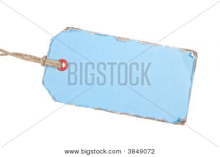 light blue Papier-tag