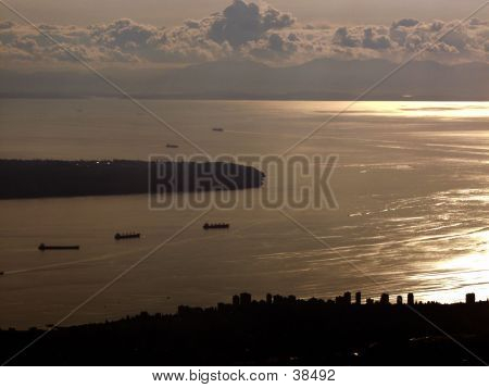 Vancouver Bay At Sunset