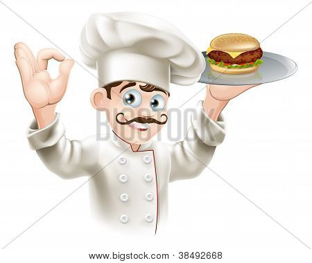 Chef With Burger