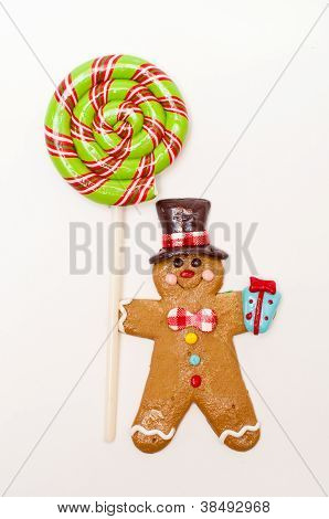 Gingerbread Man With Lollipop
