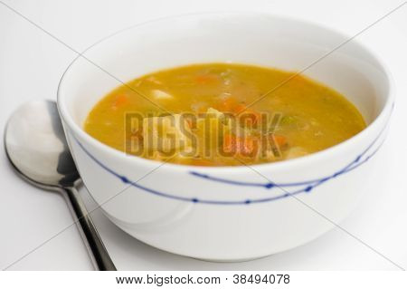 Chunky chicken and veg soup