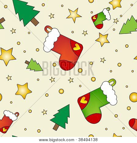Christmas texture with stockings