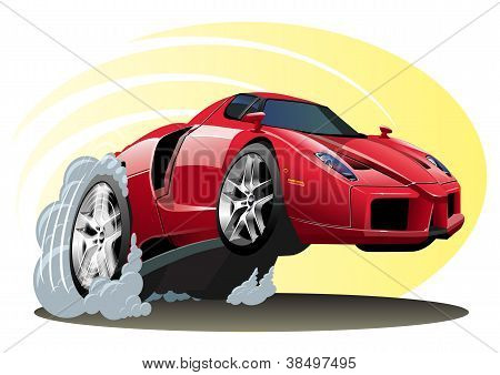 Vector Cartoon Sportcar