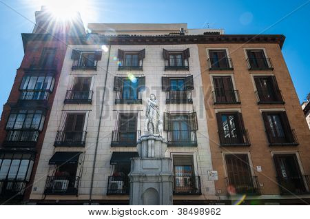 Plaza Provincia In Madrid. Sight Of Spain, Europe.