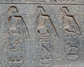 image of ramses  - Relief On Side Panel Of Ramses Ii Statue In Luxor Temple - JPG