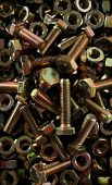 picture of spanking  - a box full of brand spanking new bolts and nuts - JPG