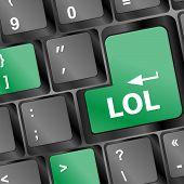 picture of lol  - keys saying lol on black keyboard  - JPG
