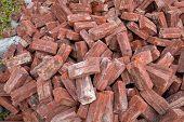 image of sandstorms  - background of vintage bricks - JPG