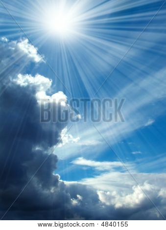 Blue Skies And Rays