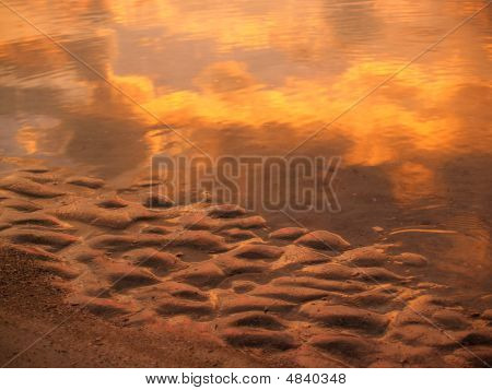 Sunrise Sand And Sea Reflections; Hunting Island, Sc