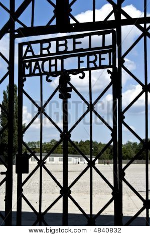 Entrance To Dachau Concentration Camp Germany