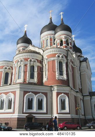 Alexander Nevsky Russian Orthodox Cathedral in Tallinn, Estonia