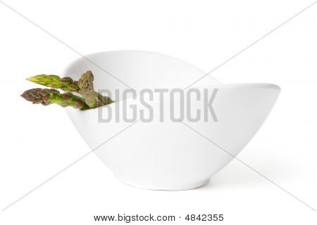 Bowl With Asparagus