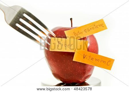 Apple Diet Concept.