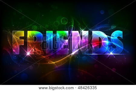 illustration of  Happy Friendship Day Greetings