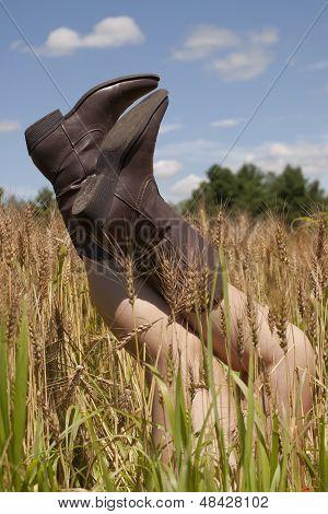 Kicking Her Heels Up