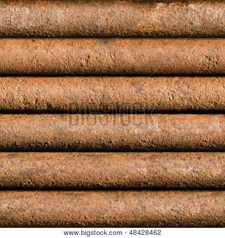 Horizontal Rusty Pipe Background