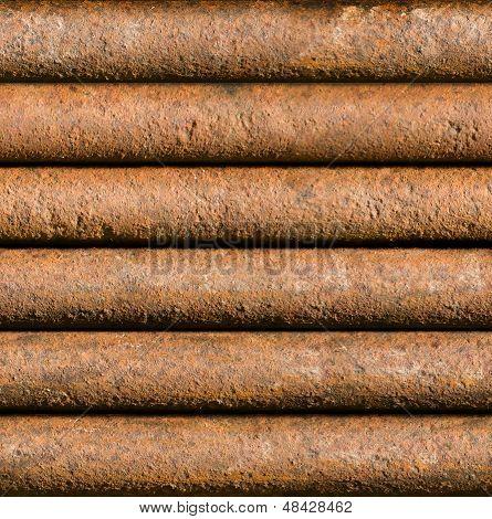 Horizontal Rusty Pipe Background