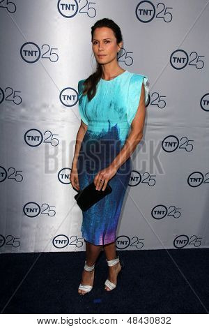 LOS ANGELES - JUL 24:  Rhona Mitra arrives at TNT's 25th Anniversary Party at the Beverly Hilton Hotel on July 24, 2013 in Beverly Hills, CA