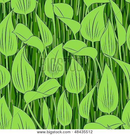 seamless grass bog leaf background