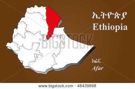 Ethiopia - Afar Highlighted