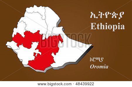 Ethiopia - Oromia Highlighted