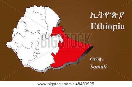 Ethiopia - Somali Highlighted