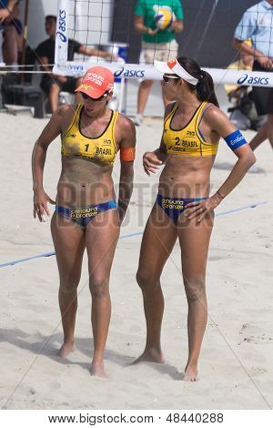 Brazilian Beach Volley Player Taiana Lima And Talita Antunes, During The Asics World Series Of Beach