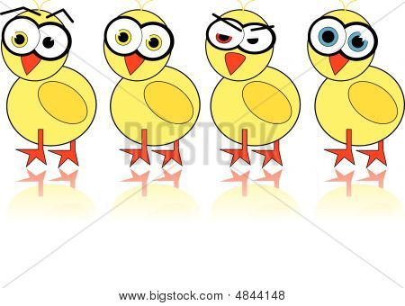Illustrated Easter Chick - Vector Image