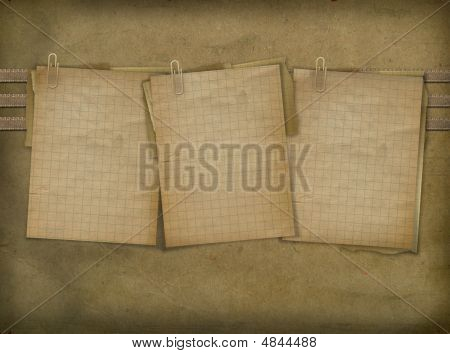 Three Sheets For Announcement On The Abstract Background