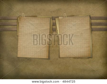Two Sheets For Announcement On The Abstract Background