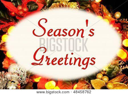 Seasons Greetings Christmas message.