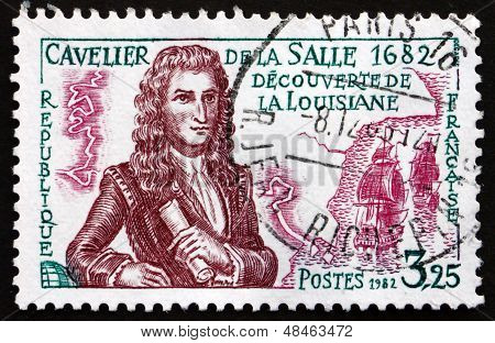 Postage Stamp France 1982 Cavelier De La Salle, Explorer