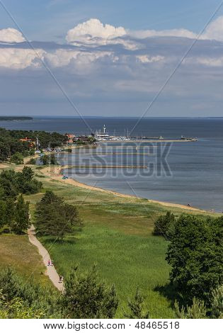 View From The Highest Dune Over The Curonian Spit