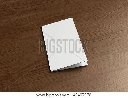 Leaflet Cover Presentation Wood