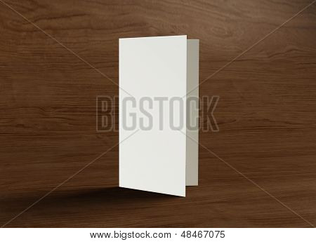 Leaflet Cover Presentation Wood