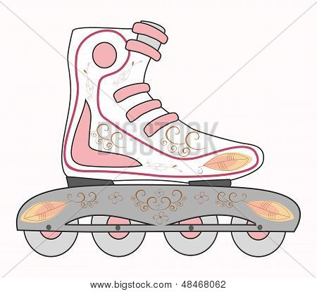 Rollerblades.Vektor illustration