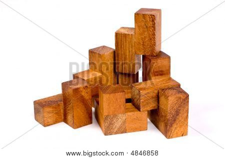 Wooden Toy Isolated On White