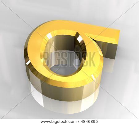 Sigma Symbol In Gold