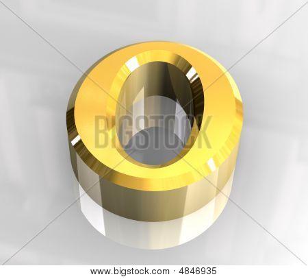 Omicron Symbol In Gold